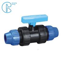 China Round Head Blue Fittings PP Compression Ball Valve For Irrigation wholesale
