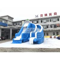 China Cool Splash Fun Inflatable Pool Slide , Realistic Shape Tortoise Water Slide For Inground Pools wholesale