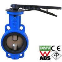 China Cast iron wafer type manual butterfly valve wholesale