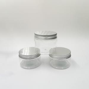 China 25g 50g Screen Printing Screw Cap Pet Plastic Jars wholesale