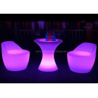 China 60cm Height Small Poseur LED Bar Table And Chair With Sturdy Metal Base And Stand wholesale