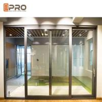 China Slim Frame Aluminium Sliding Doors , Soundproof Interior Sliding Glass Doors wholesale