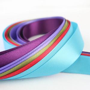 China Smooth Double Faced Satin Ribbon , Eco Friendly Silver Satin Ribbon wholesale