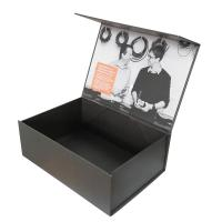 China Gold Orange Foil Stamping Full Color Printing Magnetic Folding Box With Sleeve wholesale