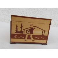Buy cheap Tarot Card Packaging Pine Wooden Storage Box With Lacquer Customized Logo from wholesalers