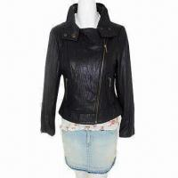 China Women rider's jacket, made of lamb skin leather, good and elegant on sale