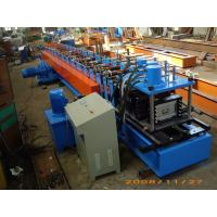 Buy cheap Gray Color Fully Automatic 13Stations C Purlin Channel Steel Roll Forming Machine 12m / min from wholesalers