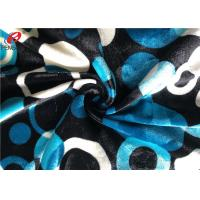China Warp Knitting Stretch Velboa Fabric , Womens Velvet Dress Fabric Material wholesale