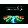 China Programmable Meteor Shower LED Christmas Lights UK / US Plug Full Color 80cm Length wholesale