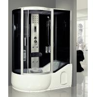 China Large Steam Shower Tub Combo Jacuzzi Shower Stalls With 6 Directional Hydrotherapy Jets wholesale