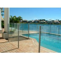 China 8mm Flat Tempered Glass Pool Fencing , Splashback Glass Handrails wholesale