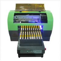 China Water Proof  3D Embossed UV LED Flatbed Printer CMYK / CMYKW Instant Dry Win98 Operation System wholesale