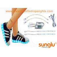 China 3528 RGB LED Shoe Light For Sole Footwear Decoration , LED Flashing Shoes wholesale