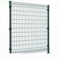 Buy cheap Triangle Bending Welded Wire Fence , Square Shape Curved Steel Mesh Fencing from wholesalers