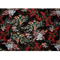 Buy cheap DTM Floral Embroidery Multi Colored Lace Fabric For Show Dress Eco Friendly from wholesalers