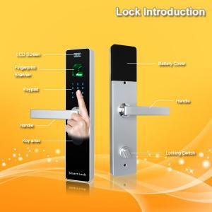 China Waterproof Contactless Keyless Fingerprint Door Lock With ID Card Reader wholesale