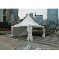 China Transparent Soft Fabric Window High Peak Tents on the Concrete Ground wholesale