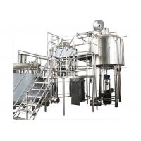 China 200 Gallon Stainless Steel Commercial Beer Making Equipment With Hot Liquor Tank wholesale