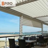 China Long Life Span Modern Aluminum Pergola With Electric Motor System wholesale