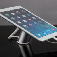 China COMER Anti-theft security tablet counter stand with alarm function and charging cable wholesale