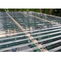 China Transparent Corrugated Polycarbonate Sheets For Roof Covering 0.8 - 1mm Thickness wholesale