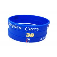 China Filled Color / Size Custom Silicone Bracelets , Debossed Silicone Bracelets wholesale