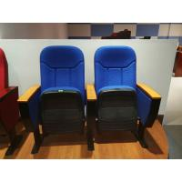 Buy cheap Free Logo Design Oak Armrest Auditorium Theater Seating With Small Tablet from wholesalers