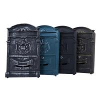 China Decorative Outdoor Security Aluminum Mailbox , Wall Mounted Waterproof Letterbox wholesale