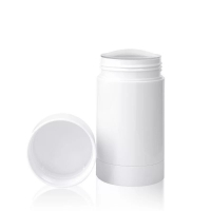 China 30g 50g 75g Eco-friendly Matt White Plastic PP Empty Twist-up Deodorant Bottles wholesale