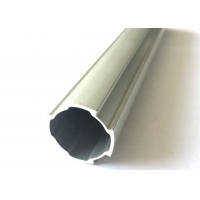 China Linear Slide D28mm Lean Tube Aluminium Extrusion Profiles With Flat Side wholesale