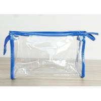 China Transparent PVC Cosmetic Bag with Zipper closure , Clear Vinyl Make-Up Pouches wholesale