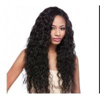 Water Wave / Kinky Curly Human Hair Wigs 100% Brazilian Wig , Hair Extension Double Wefted
