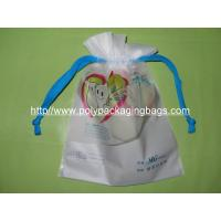 Quality Personalized CPE / LDPE Drawstring Plastic Bags For Girls Underwear / Bra / for sale