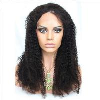 China No Shedding 360 Lace Front Human Hair Wigs Afro Kinky Curly 1b Color wholesale