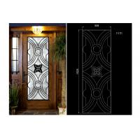 China Oval Shaped Iron Glass Entry Doors , Antiseptic Wrought Iron Doors With Glass wholesale
