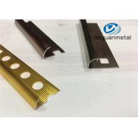 China Different Punched Metal Edging Strip , Shiny Golden Aluminium Trim Profile wholesale