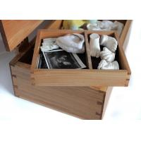 Buy cheap Natural Color Bamboo Gift Box , Bamboo Socks Gift Box With Hinged Lid from wholesalers