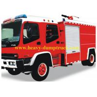 China 4X2 8000 Litres Fire Fighting Truck Power Steering 8 Forwards / 1 Reverse wholesale