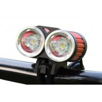 China Two Super Bright LED Bicycle Headlight 1200 LM Lumens Long Service Life on sale