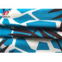 China Waterproof Breathable Polyester Spandex Fabric / Printed Lycra Fabric For Bikini wholesale