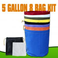 China Red Blue Yellow Hydroponics herbal ice bubble bags hash bags with 5 Gallon 8 Bag wholesale
