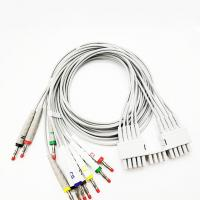 China 127cm Banana Plug 10 leads Ecg holter Cable , 0.47lb TPU Mortara Holter Monitor on sale