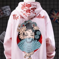 China Small quantity garment manufacturer  Oversized Embroidered Men Cool Hoodies 3D Printed Heat Transfer Logo wholesale