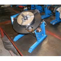 China Pipe Round Small Welding Table Hand Wheel With Foot Pedal 300kg 600mm wholesale