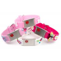 China Embossed Silicone Medical ID Wristband , Children's Medical ID Bracelets With Alloy Plate wholesale