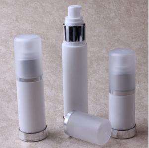 China 15ml,30ml,50ml Milk White PP Lotion Bottle Plastic Airless Bottles for Emulsion on sale