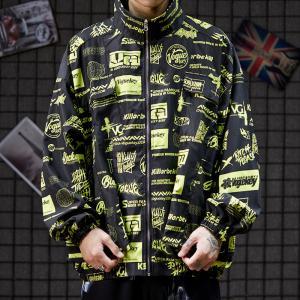China Low moq clothing manufacturer Plus Size Zipper Polyester Men Long Sleeve Jacket Windbreaker wholesale
