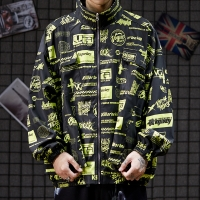 Buy cheap Low moq clothing manufacturer Plus Size Zipper Polyester Men Long Sleeve Jacket from wholesalers