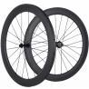 China Custom Logo 23mm Carbon Fiber Clincher Wheelset , 60mm Carbon Racing Bike Wheels wholesale
