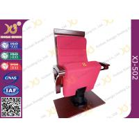 China Air Conditioner Out Put Leg Church Hall Chairs With Triangle Wooden Armrest wholesale
